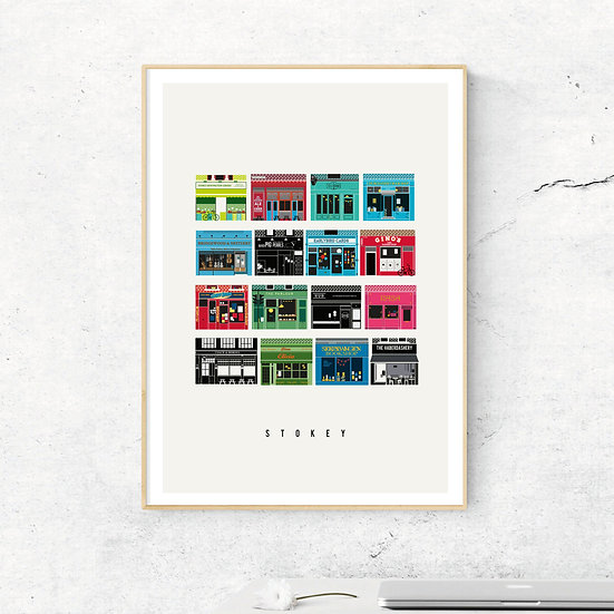Independent London, Stokey Illustrated Art Print