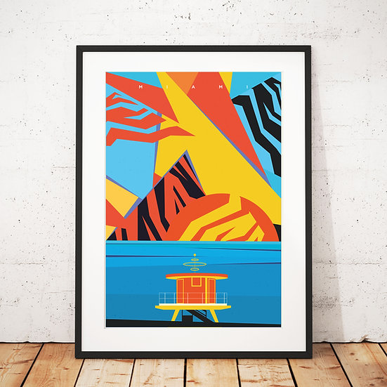 Miami Beach Art Print