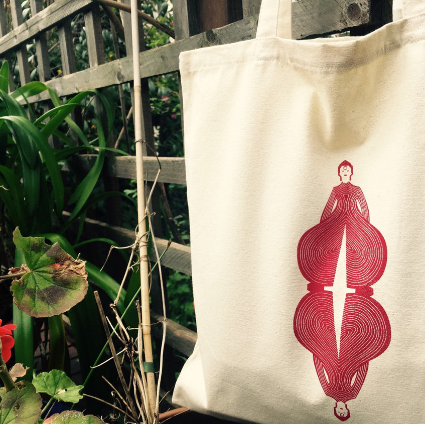 Limited Edition Screen Printed David Bowie canvas tote bags.