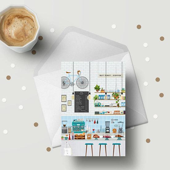 London Coffee Shop Mini Greeting Cards