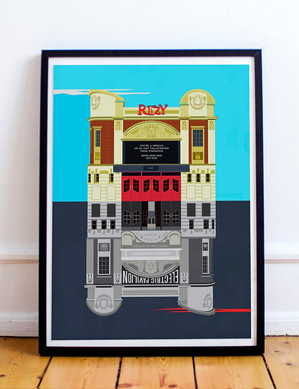 The Ritzy Cinema Brixton Art Print | Eye for London Prints