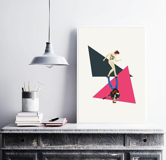 George Michael Wake me Up Art Print