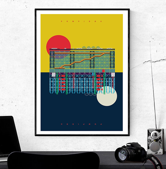 Pompidou Centre Paris Art Print