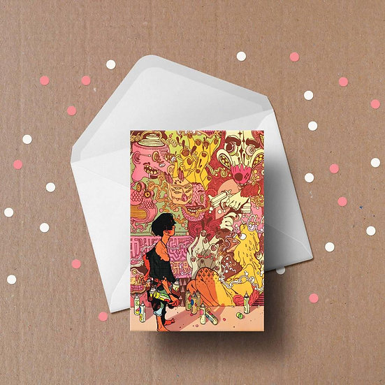 Street Art Greeting Card