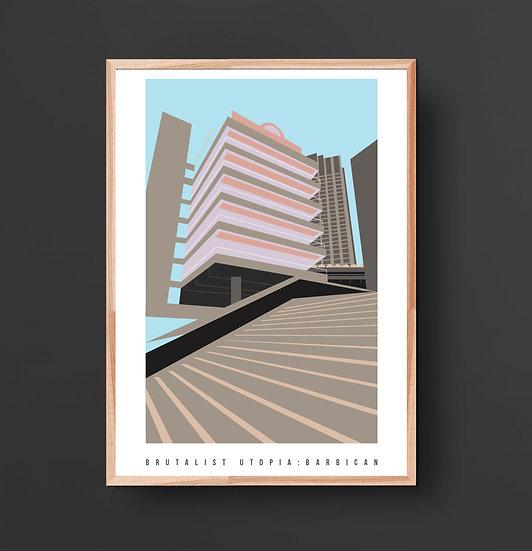 Brutalist Barbican Art Print