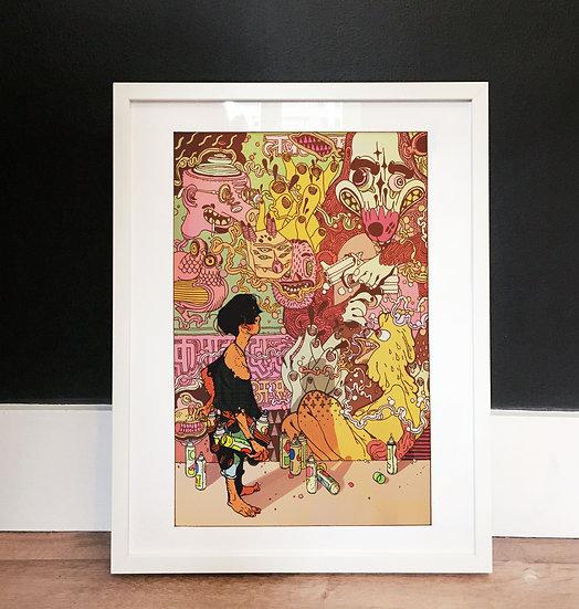 Mumbai Illustrated Art Print