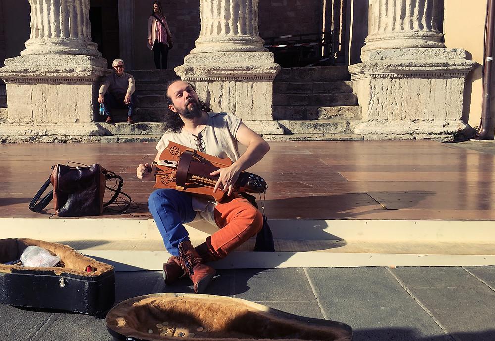 street Musician Assisi