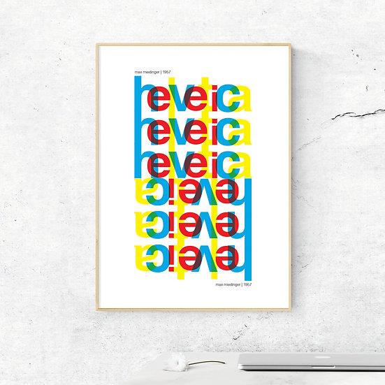 Helvetica Art Print Poster