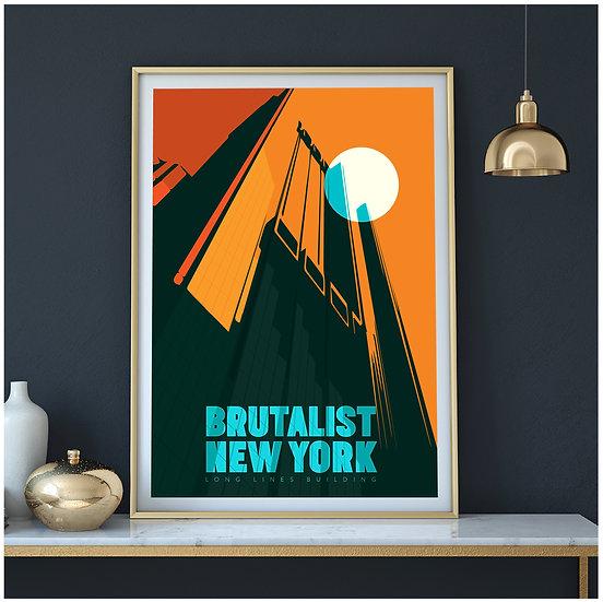 Brutalist New York. The Long Line Building Art Print