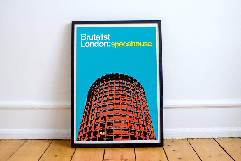 Brutalist London Space House Art Print
