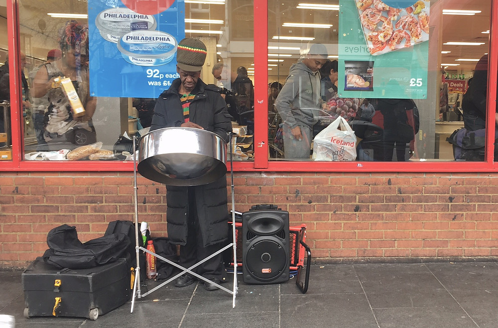 Busker in Brixton