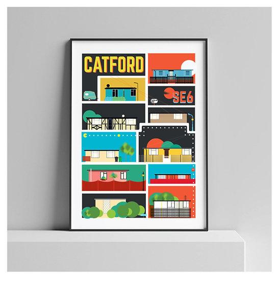 Excalibur Estate Catford Art Print | London Art Prints