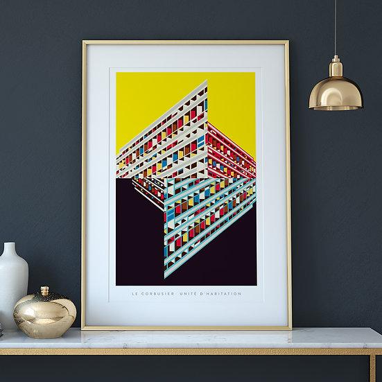 Le Corbusier Unite d'habitation Art Print