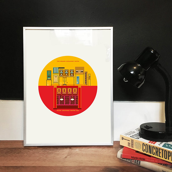 The Grand Budapest Hotel Illustrated Art Print
