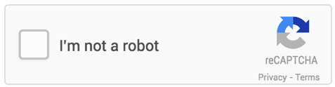 Screenshot of reCAPTCHA 'I'm not a robot' dialogue