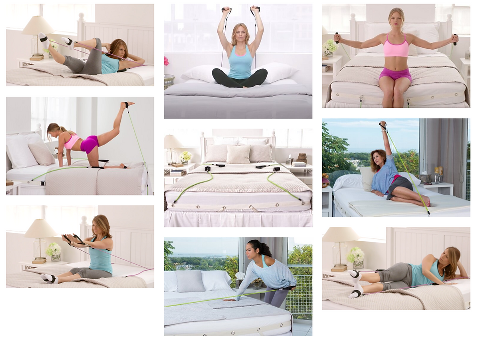 bed gym workout in bed exercise in bed stretching in bed pilates in bed