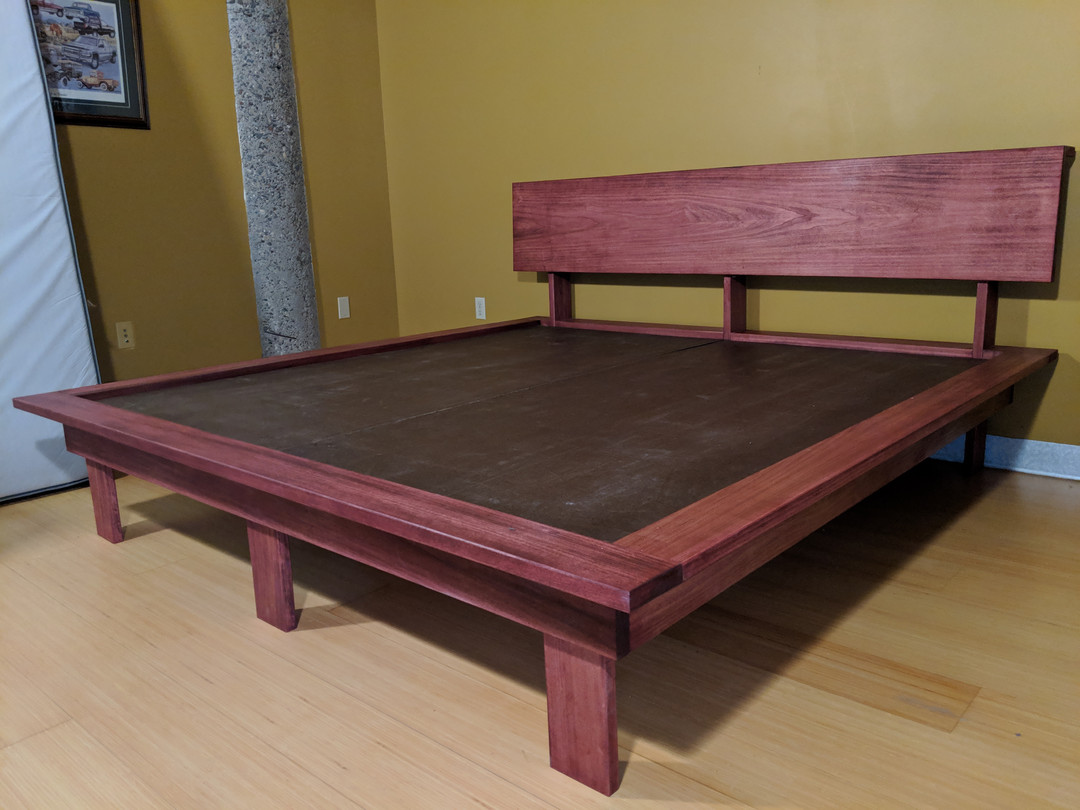 Poplar King Platform Bed with Legs