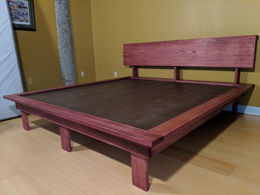 Poplar King Platform Bed with Legs
