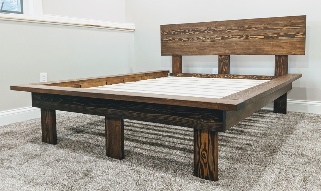 Kotty Pine Platform Bed with Legs