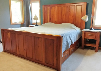Rustic Cherry King Size Bed