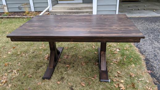 Knotty Pine Farm Table