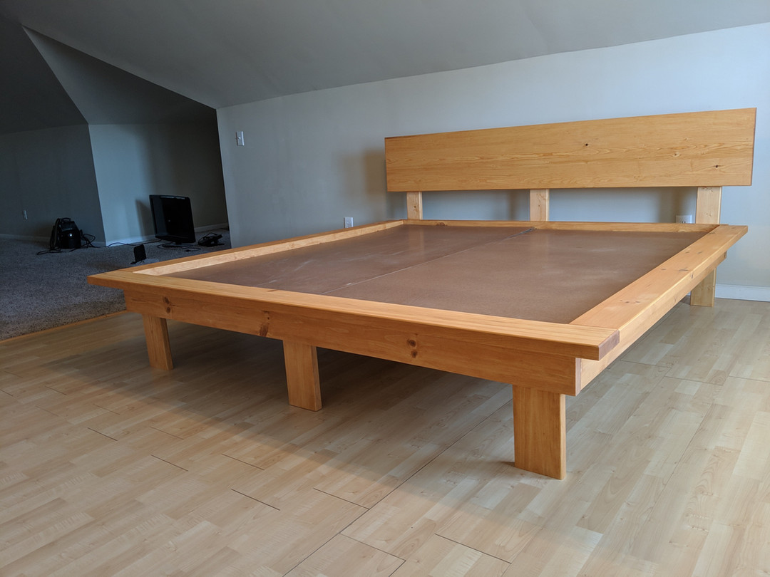King Size Plaform Bed with Legs