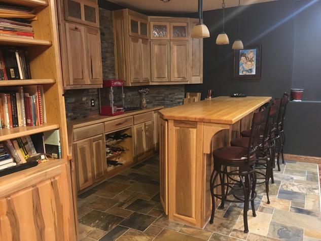 Custom Soft Maple Bar Cabinets