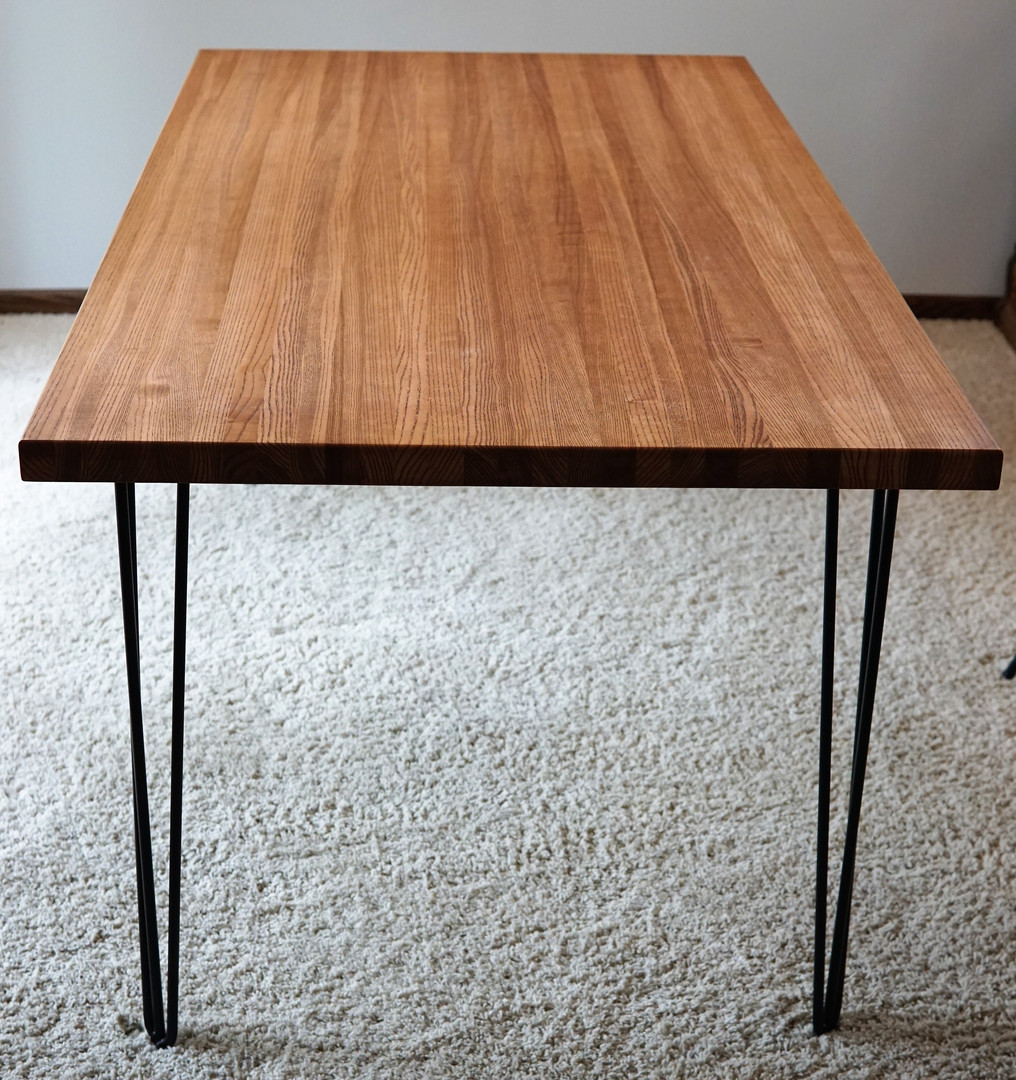 Solid Ash butcher block table