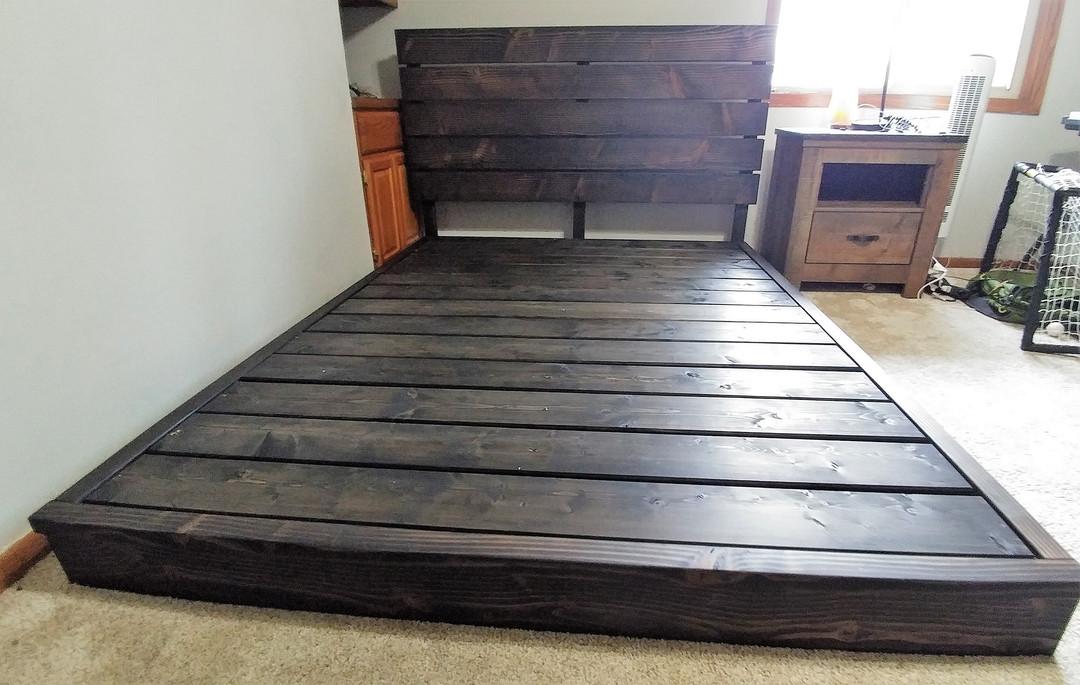 Knotty PIne Platform Bed