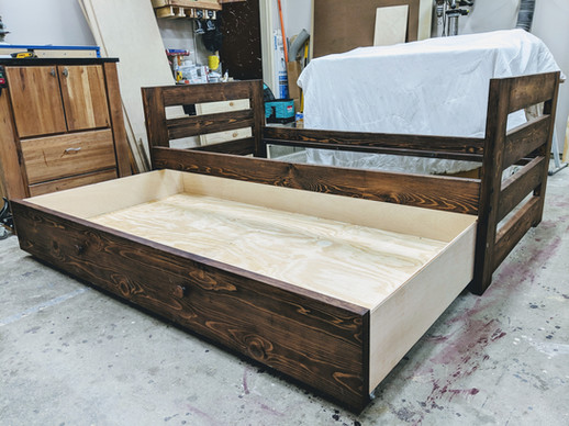 Pine Twin Captain's Bed