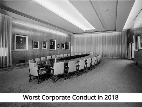 The 7 Companies with the Worst Conduct in 2018: Corporate Corruption Is Normal, Right?