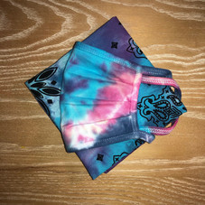 Blue Pink Dye, Matching bandana for pup (sold out)