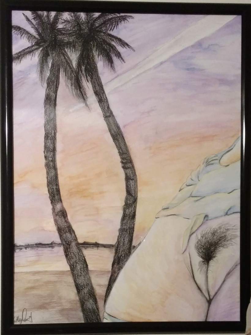 Nude beach art fine
