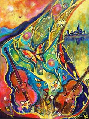SOLD-Violins in Summer