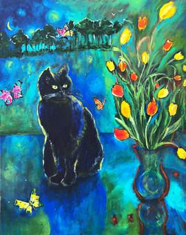 SOLD Cobalt Cat $650