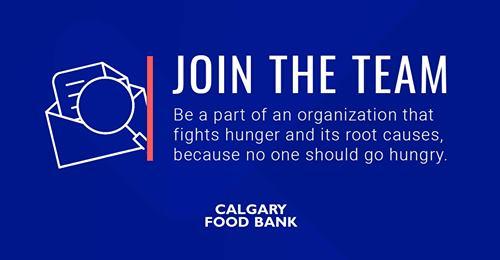 Calgary foodbank hiring