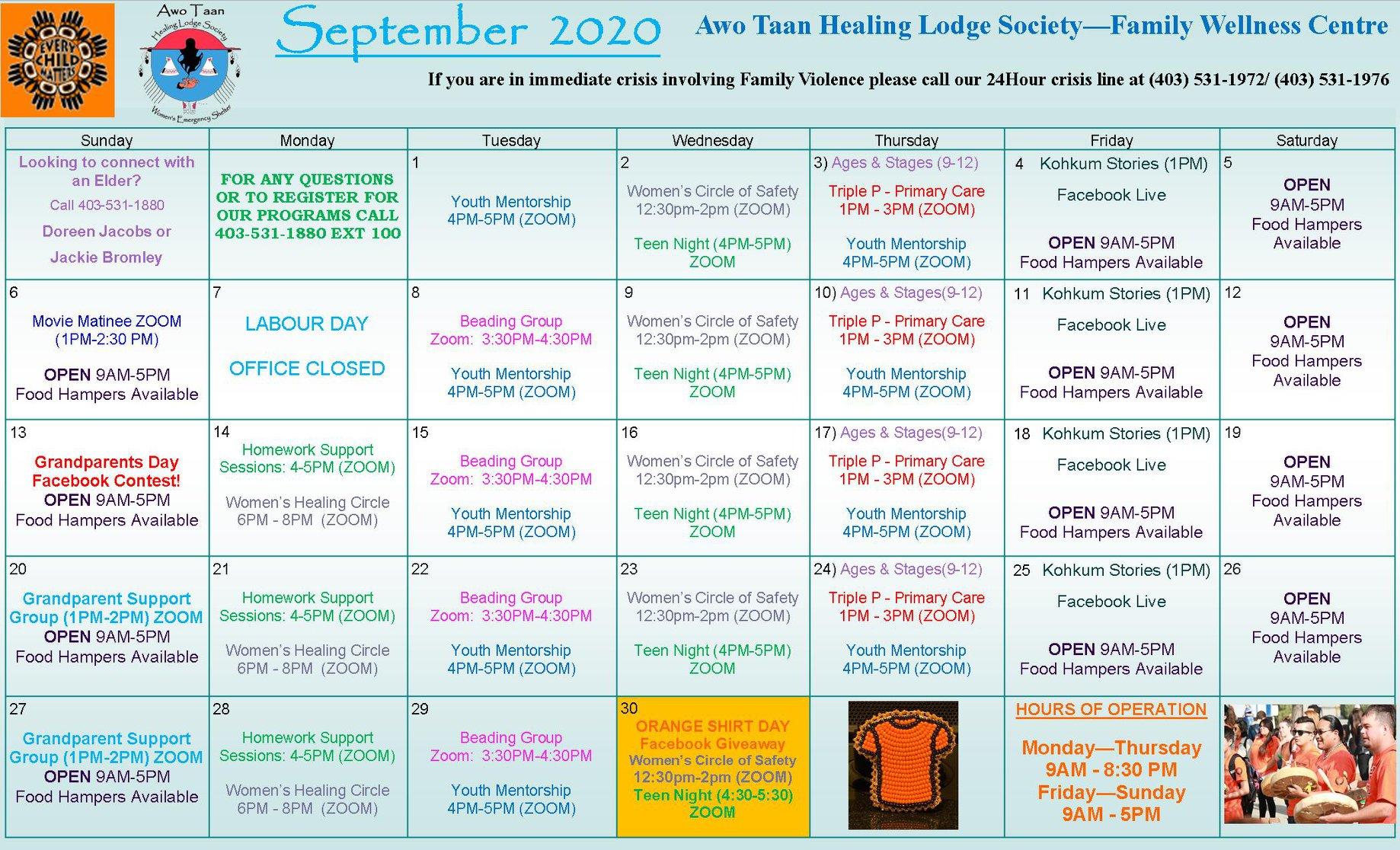 Awo Tann September schedule