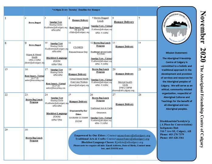 Aboriginal Friendship Center November Ca