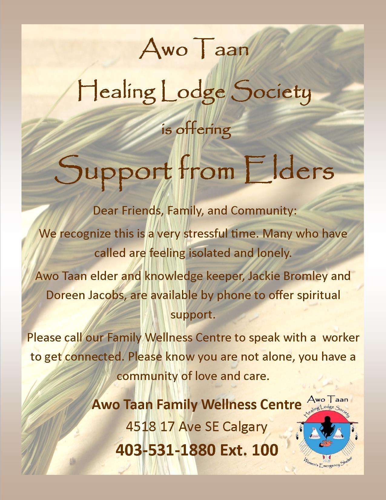 Awo Taan support from Elders