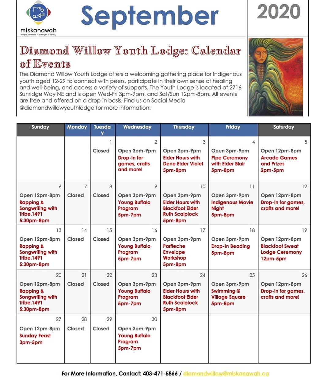 Diamond September schedule