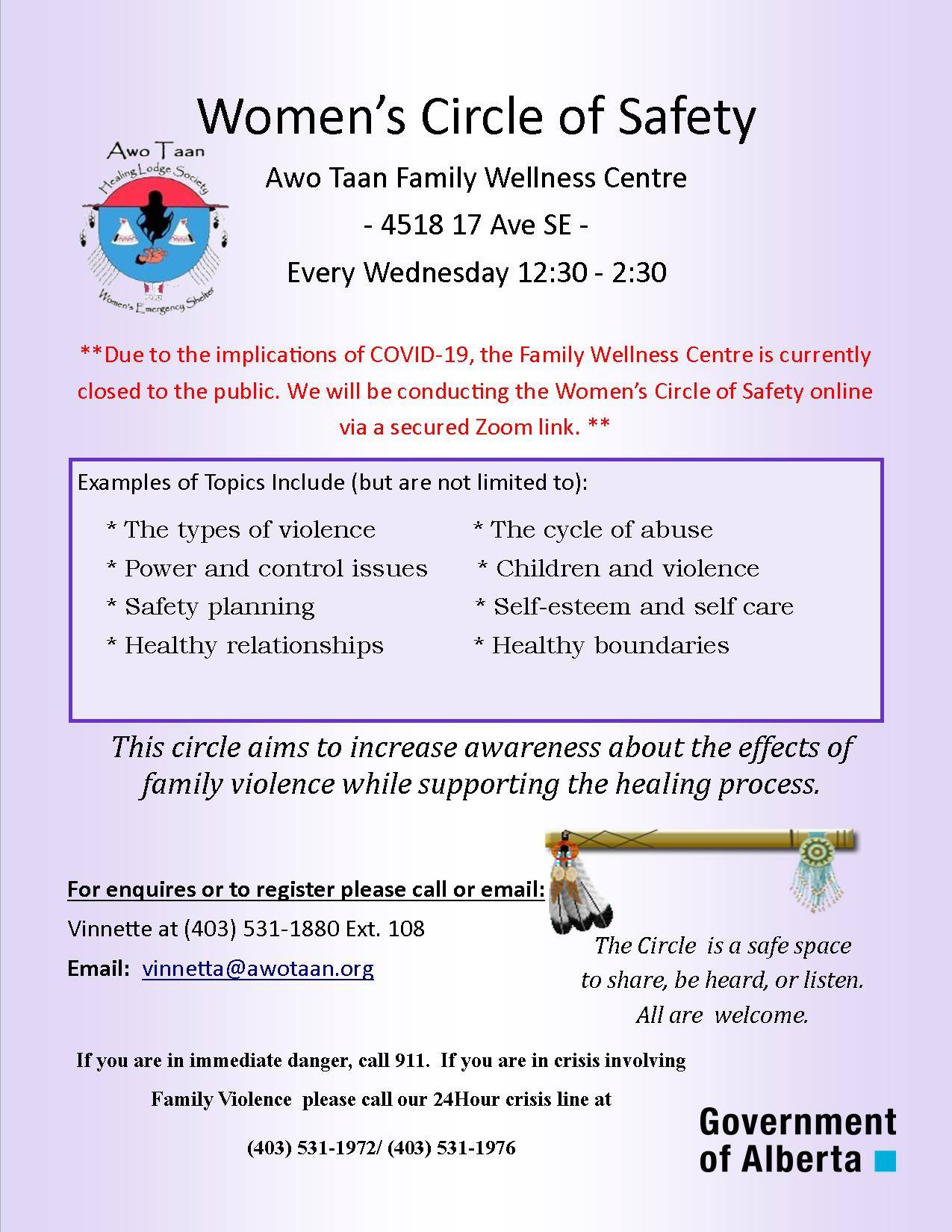 Womens circle of safety