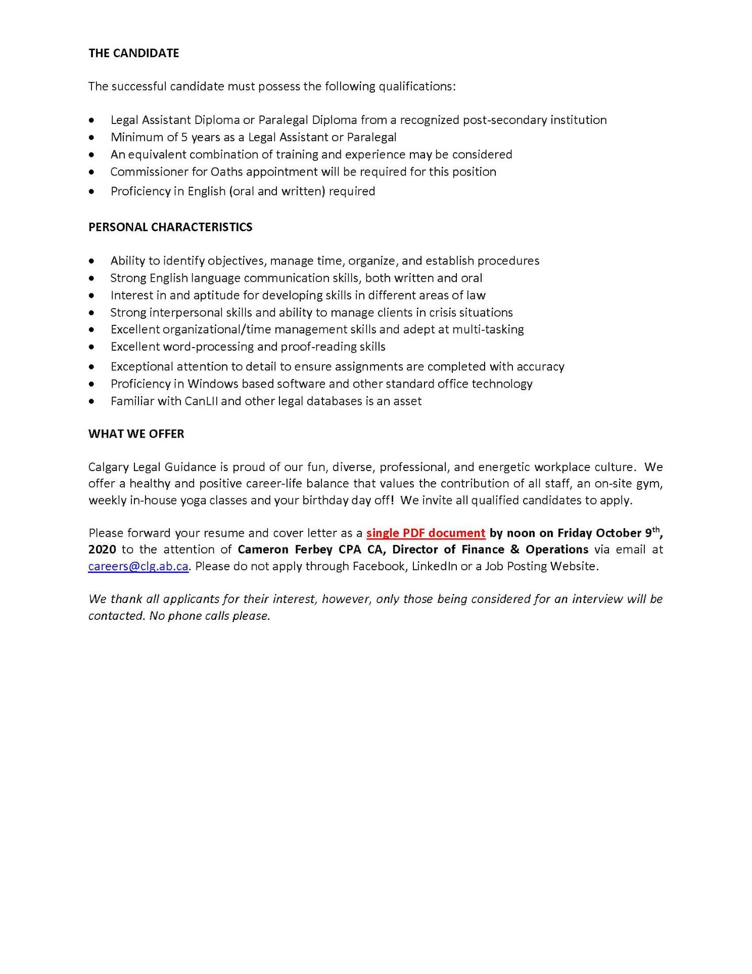 job posting- pg 2