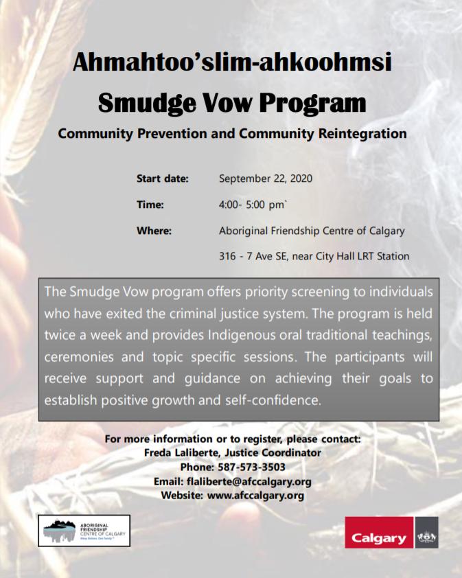 Smudge Vow Program