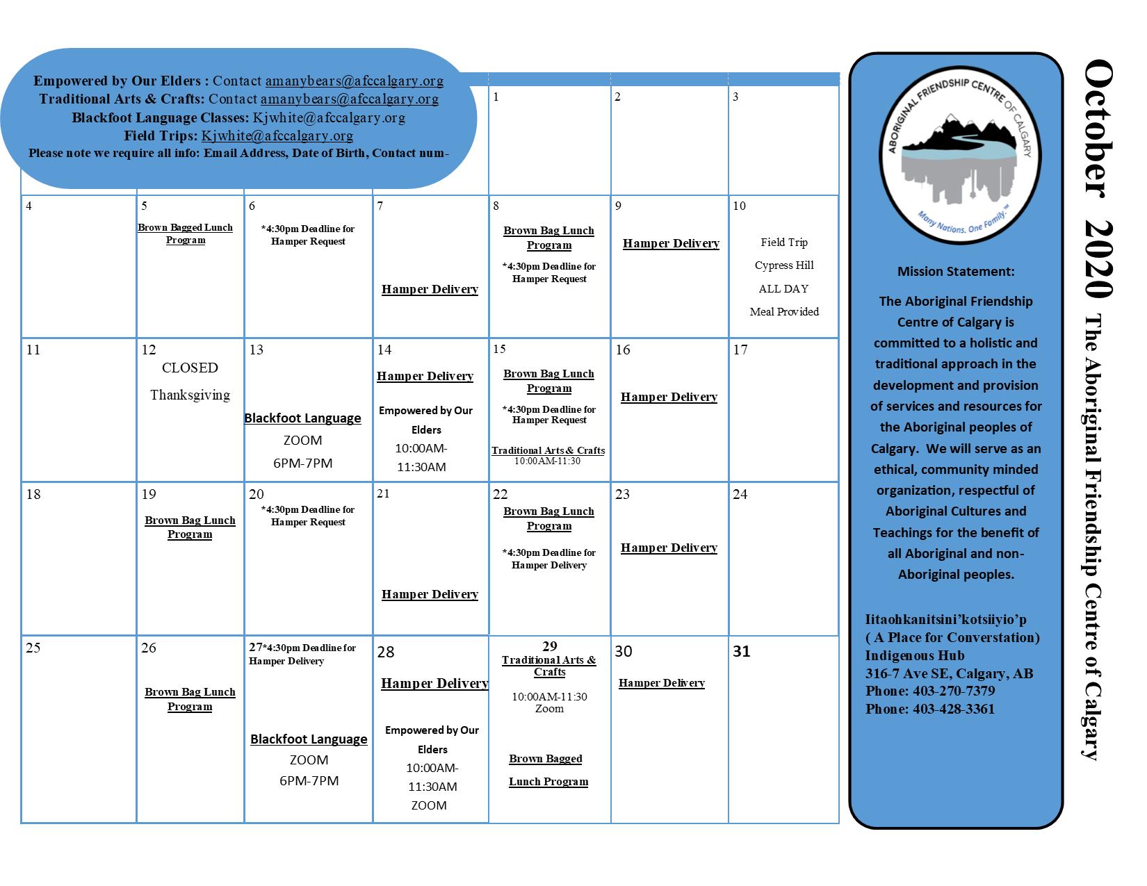 Awo Tann October schedule