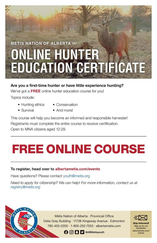 Online hunter course