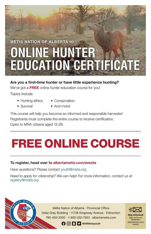 Online hunter course