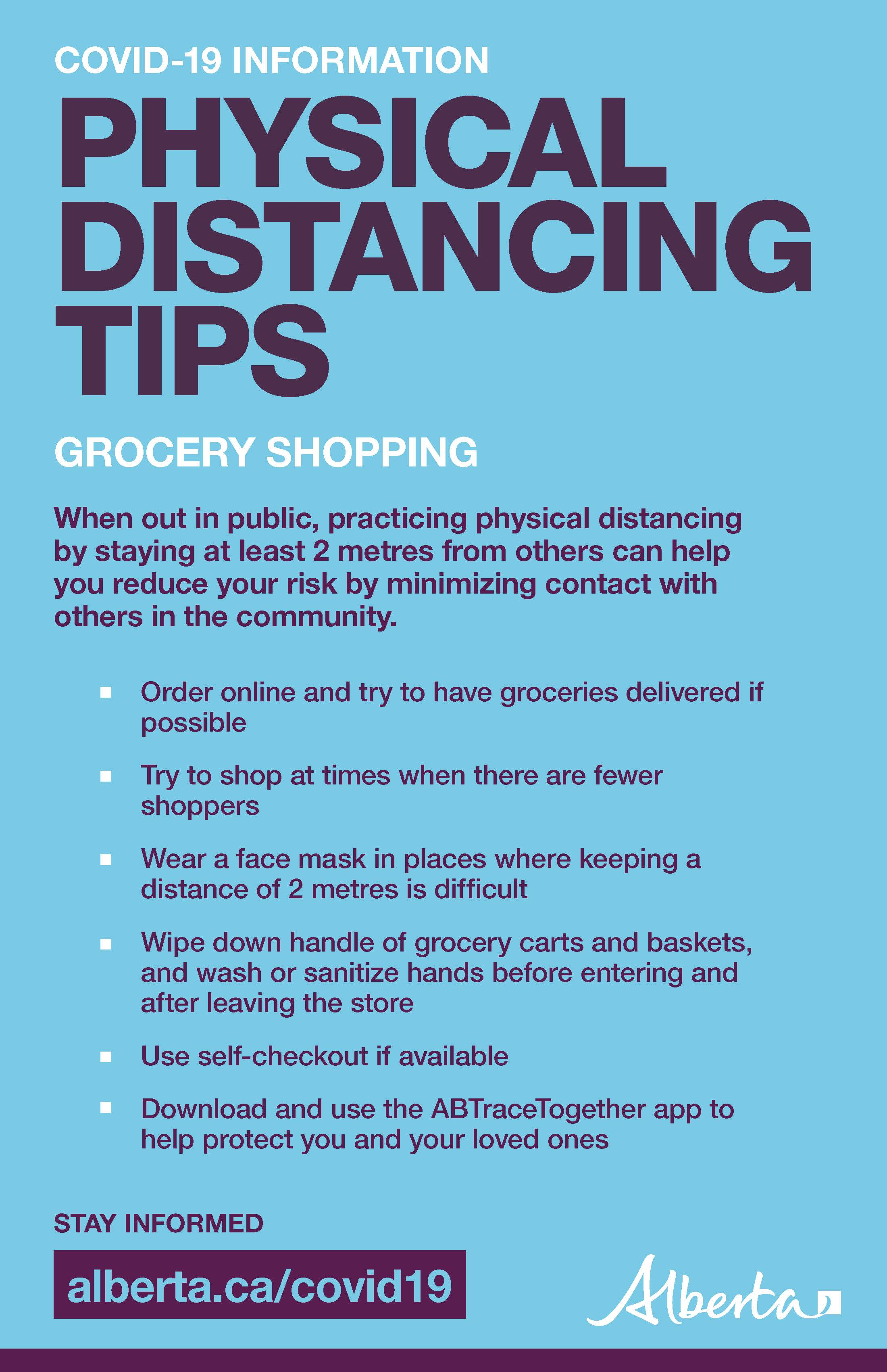 Grocery COVID tips
