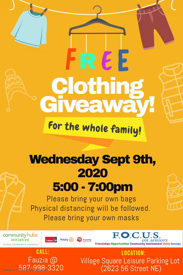 Sept 9, 2020 Free Clothing Giveaway Post