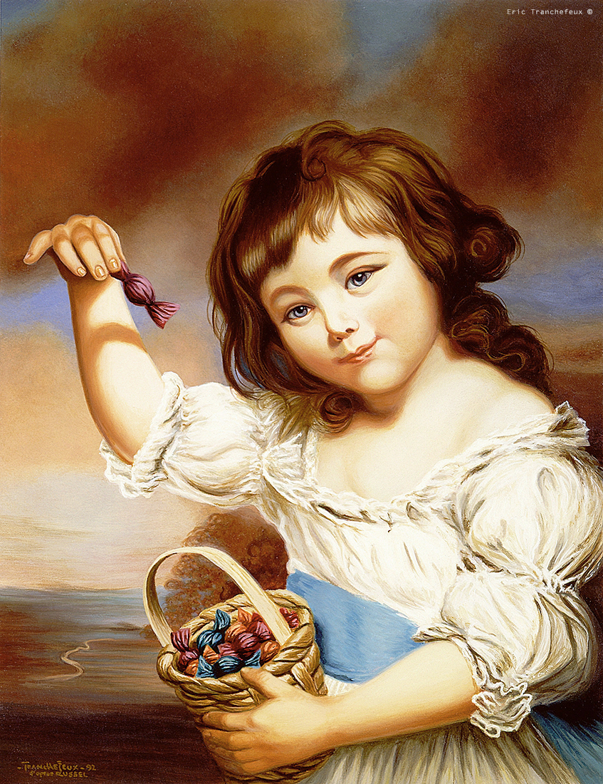SMALL GIRL WITH CANDY