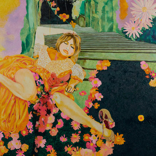 Forgotten in Lomard Garden(painting detail)